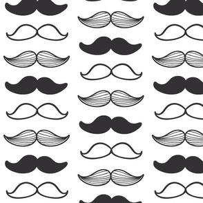dark grey mustache