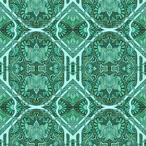 Electric Daisy Tiles (green)