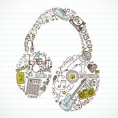 Headphones on Paper