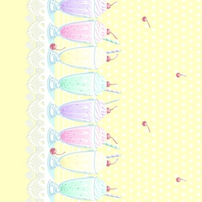 Pastel Cute Milkshake- Yellow