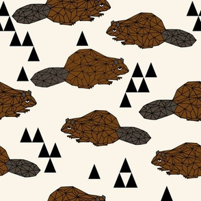 Geo Beaver - Brown by Andrea Lauren