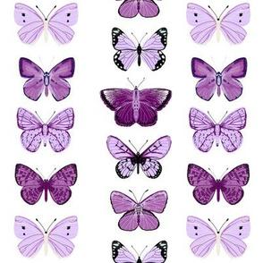 butterflies // purple spring pastel girly print