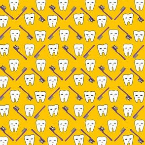 Happy Teeth - Gold and Purple by Andrea Lauren (Mini) by Andrea Lauren