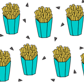 French Fries - Turquoise by Andrea Lauren