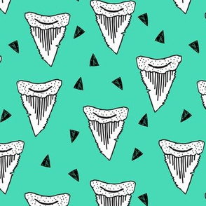 shark tooth // shark teeth bright green sharks shark teeth design