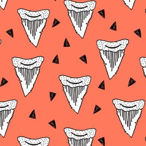 Shark Tooth Tri - Carrot Orange by Andrea Lauren