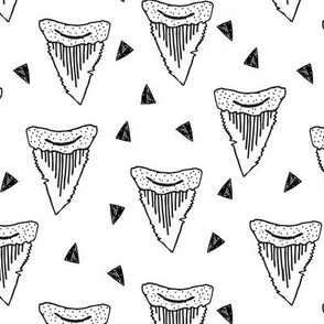 shark tooth // shark teeth sharks shark fabric black and white kids shark pattern shark fabric shark design andrea lauren