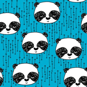 pandas // panda head cute panda fabric kawaii cute pandas scandi nursery baby