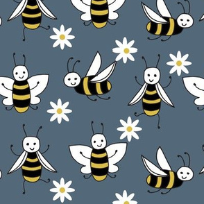 Bees - Payne's Grey by Andrea Lauren