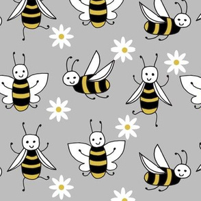Bees - Slate Grey by Andrea Lauren