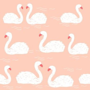 Swans in the Pod - White/Pale Pink by Andrea Lauren