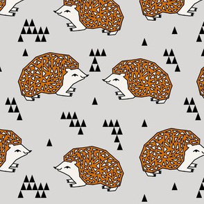 Geo Hedgehog - Rust and Grey by Andrea Lauren