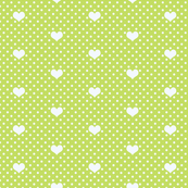 Polka Dot and Heart in Lime