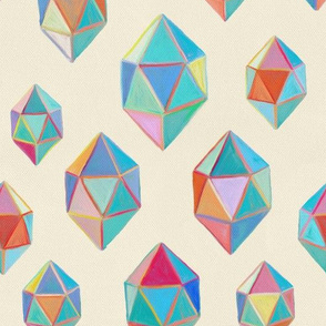 Painted Geometric Shapes / Gemstones