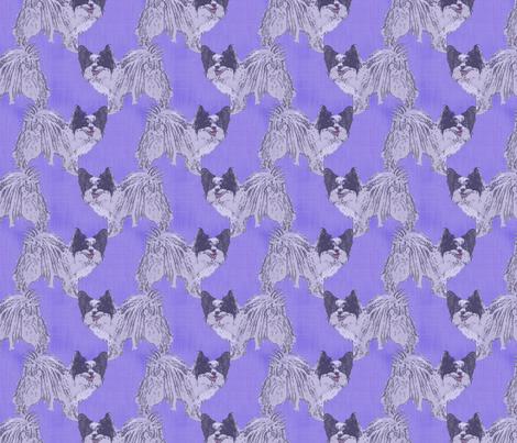 Standing Papillon - purple