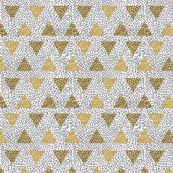 Modern Memphis Gold Triangle White