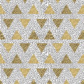 Modern Memphis Gold Triangle White