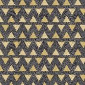 Modern Memphis Gold Triangle Black