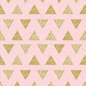Modern Memphis Gold Triangle Pink White