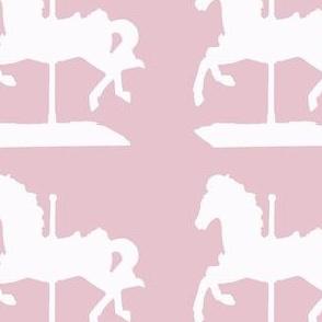 carousel horse-pink