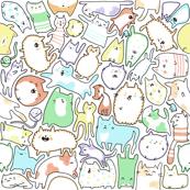 Kawaii Doodle Cats