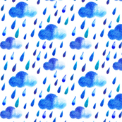 Watercolor Raindrops