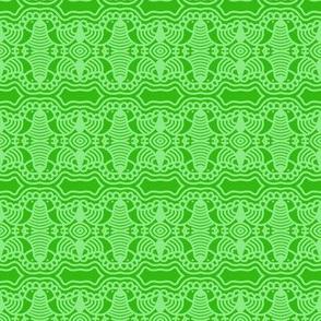 Green Birds and Grass 1