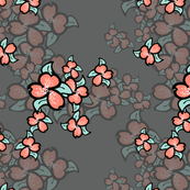 018 minty coral flowers at night