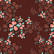 018 minty coral flowers red wine