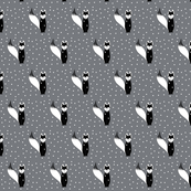 Winter Black and White Fox