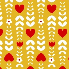 hearts and leaves yellow