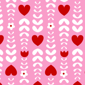 hearts and leaves pink