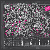2016 Shabby Floral tea Towel calendar