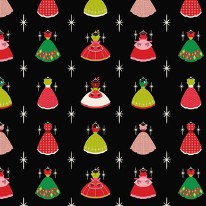 Christmas Dresses- Fussy Cut