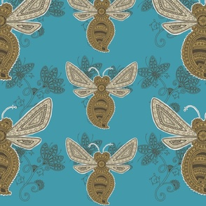Simple Bee Paisley Small