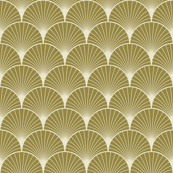 Art deco,scallop,pattern,gold,white,silver,chic, wood wall art