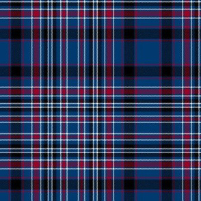 MacAlister tartan - blue and red variant