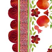 Pomegranates Border 1 on White