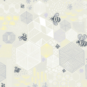 Geometric Bees by Friztin