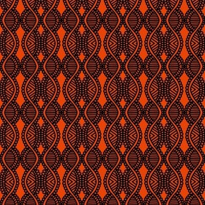 Serpentine Weaving Orange Black