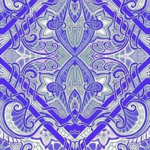 Blue-Purple Paisley Gavotte