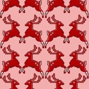 Pixel Deer Pink