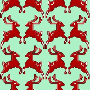 Pixel Deer Green