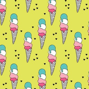 Popsicle ice cream cone candy land summer illustration ice-cream print for girls