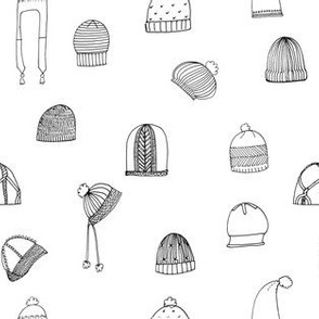 Hats- Black & White