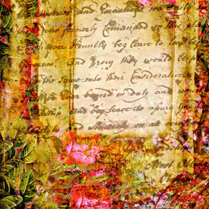 Shabby Chic writing and roses