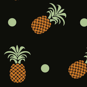 Pineapples and polka dots