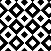 Black & White Diamond Quilt