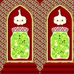 Precious Persian pickle pavilions