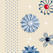 Garden Jewels (Neutral Blue/Red)